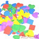 Naklejki z pianki kształty - kwadraty trójkąty serca 200szt. (CZERWONE ZIELONE FIOLET ŻÓŁTE)