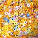 Kwiatuszki materiałowe mix kolorów wiosennych - duża paczka 100g