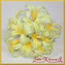 Kwiatuszki materiałowe agapantus żółty gałązka 10 kwiatów