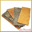 Plaster kory drewna naturalny płaski 1szt