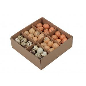NATURALNE jajka nakrapiane 3 kolory (rude jasny pomarańcz naturalne) pudełko 72szt.