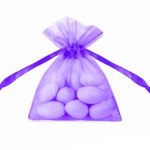 WORECZKI Z ORGANZY fioletow duże 10szt.