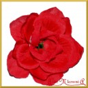RÓŻA MINI CZERWONA - kwiatuszki ozdobne 12szt.