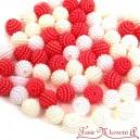 Koraliki perłowe jeżynki 10mm  60 szt. mix BIAŁE ECRU KORAL