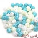 Koraliki perłowe jeżynki 10mm  60 szt. mix BIAŁE ECRU TURKUS