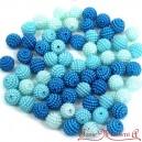Koraliki perłowe jeżynki 10mm  60 szt. mix JASNY NIEBIESKI BŁĘKIT TURKUS