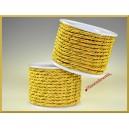Sznurek oplatany  3mm/10mb  złoto-złoty