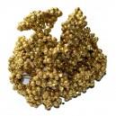 Brokatowe kuleczki na  gałązkach złote 6szt.