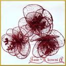 Kwiat czerwony ażurowy