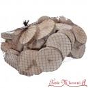 Plastry brzozy okrągłe bielone SIATKA 1kg