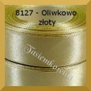 Tasiemka satynowa 6 mm kolor 8127 oliwkowo złoty