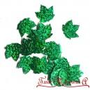 Cekiny liście klonu zielone laserowe 2cm/40szt.