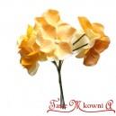 Hortensje ŻÓŁTE - materiałowe kwiatuszki 6szt.
