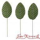 Satynowe liście ZIELONE na druciku 5cm/ 10szt.