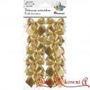 Kokardki ozdobne złote metalizowane 12szt.