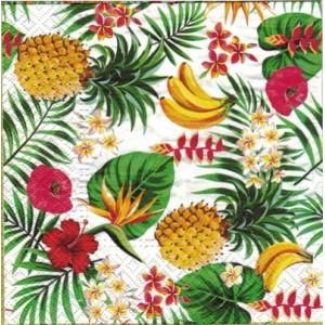 Serwetka do decoupage ananasy banany liście 1 Szt.