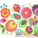 Serwetka do decoupage łowickie kwiaty z kogucikiem 1 SZT.