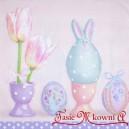 Serwetka do decoupage jajko królik tulipany 1 SZT.