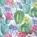 Serwetka do decoupage kaktusy i kwiaty 1 SZT.