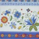 Serwetka do decoupage niebieskie kwiaty łowickie 1 Szt.