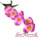 Bratki na gałązce 7 kwiatów 46 cm AMARANTOWO RÓŻOWE