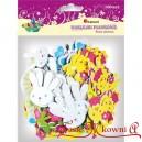 NAKLEJKI Z PIANKI -głowa króliczka, kurczaczek,motylek, kwiatuszek, słoneczko, króliczek w sukience100 szt