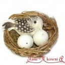 Gniazdko z ptaszkiem i jajeczkami