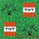Serwetka do decoupage pixele