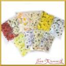 Kwiatuszki materiałowe MIX ozdobny 10 opakowań 600szt.