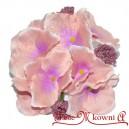 HORTENSJA satynowa RÓŻOWA bukiet 8 kwiatów