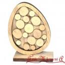 Jajko na podstawce z plastrami drzewa 11 cm