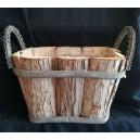 Donica drewniana koszyk