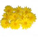 Kwiatuszki materiałowe margarytki DUŻE żółte 4,5cm