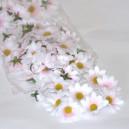 Kwiatuszki materiałowe stokrotki 3,5 cm - JASNORÓŻOWE