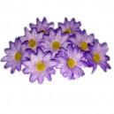 Kwiatuszki materiałowe stokrotki 3,5 cm - FIOLETOWE