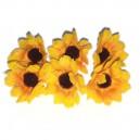 Kwiatuszki materiałowe duże słoneczniki-ŻÓŁTO-POMARAŃCZOWE