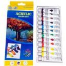 Zestaw farbek akrylowych 12szt mix koloru