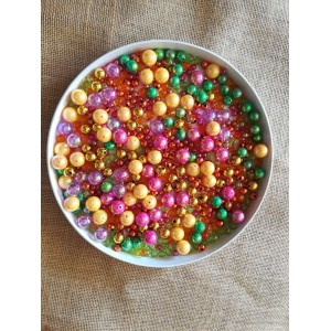 Koraliki mix kolorów, mix rozmiarów 250g
