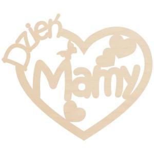 Ażurowe serce na Dzień Mamy, ze sklejki