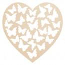 Ażurowe serce Motylki, ze sklejki