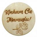 Podkładka pod kubek z grawerem KOCHAM CIĘ MAMUSIU