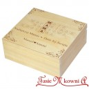 Drewniane pudełko z grawerem na Dzień Matki, wzór nr 2, kwadrat
