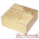 Drewniane pudełko z grawerem na Dzień Matki, wzór nr 1, kwadrat