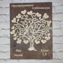 Drzewko podziękowanie dla nauczycieli ze sklejki, tło miętowe
