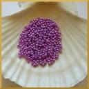 Perełki 3mm fioletowe opalizujące