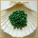 Perełki 6mm ciemno zielone