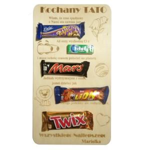 Dyplom dla Taty ze słodkościami - 5 elementy