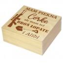 Drewniane pudełko z grawerem na Dzień Taty, wzór nr 7, kwadrat 20