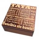Szkatułka/pudełko z grawerem na Dzień Taty wzór nr 3 - bejcowana 20