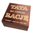 Szkatułka/pudełko z grawerem na Dzień Taty wzór nr 4 - bejcowana 20